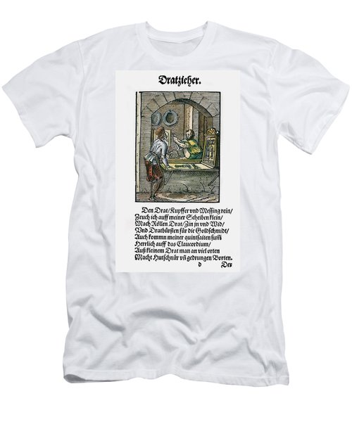 Men's T-Shirt (Slim Fit) featuring the drawing Wiredrawer, 1568 by Granger