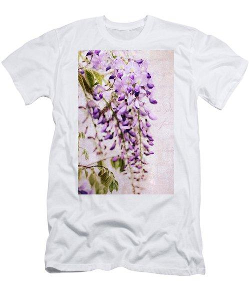 Wisteria Petals Men's T-Shirt (Athletic Fit)