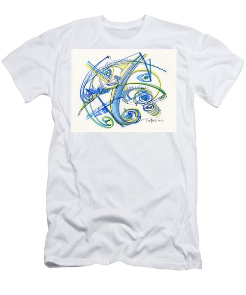2012 Drawing #33 Men's T-Shirt (Slim Fit) by Lynne Taetzsch
