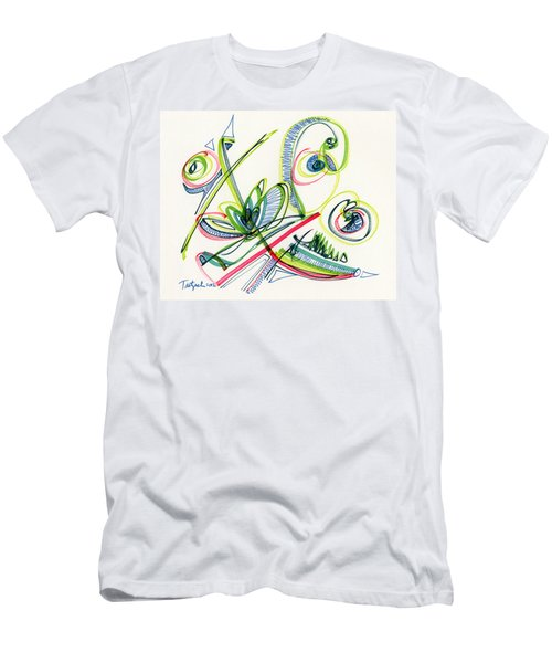 2012 Drawing #36 Men's T-Shirt (Slim Fit) by Lynne Taetzsch