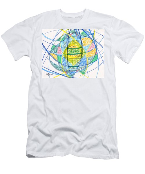 2013 Abstract Drawing #2 Men's T-Shirt (Slim Fit) by Lynne Taetzsch