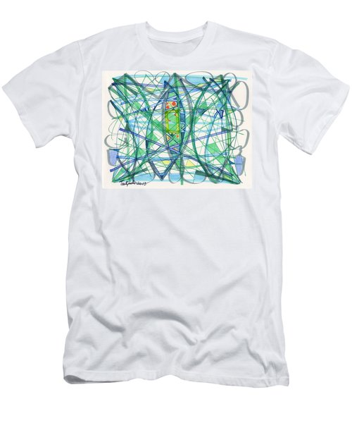 2013 Abstract Drawing #23 Men's T-Shirt (Slim Fit) by Lynne Taetzsch