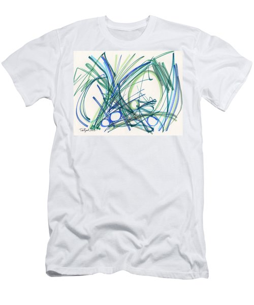 2013 Abstract Drawing #8 Men's T-Shirt (Slim Fit) by Lynne Taetzsch