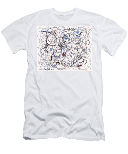 2014 Abstract Drawing #6 Men's T-Shirt (Slim Fit) by Lynne Taetzsch