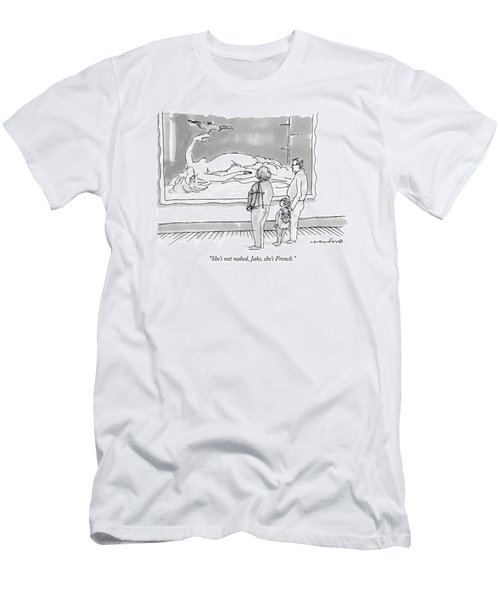 She's Not Naked Men's T-Shirt (Athletic Fit)
