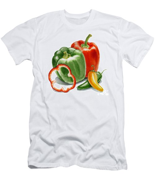 Bell Peppers Jalapeno  Men's T-Shirt (Athletic Fit)