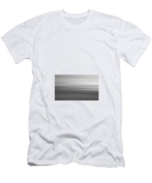 Black And White Abstract Seascape No. 02 Men's T-Shirt (Athletic Fit)