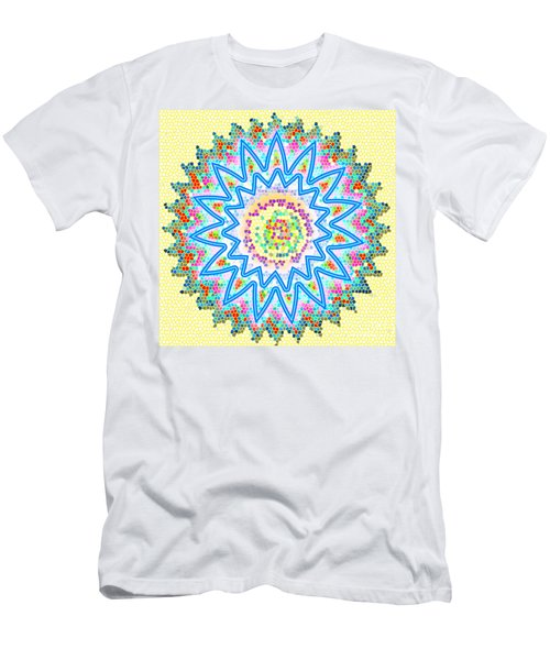 Colorful Signature Art Chakra Round Mandala By Navinjoshi At Fineartamerica.com Rare Fineart Images  Men's T-Shirt (Athletic Fit)