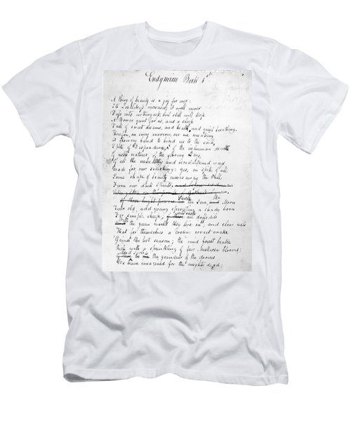 John Keats (1795-1821) Men's T-Shirt (Athletic Fit)
