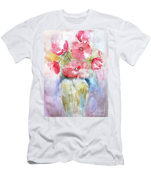 Poppies Men's T-Shirt (Slim Fit) by Jasna Dragun