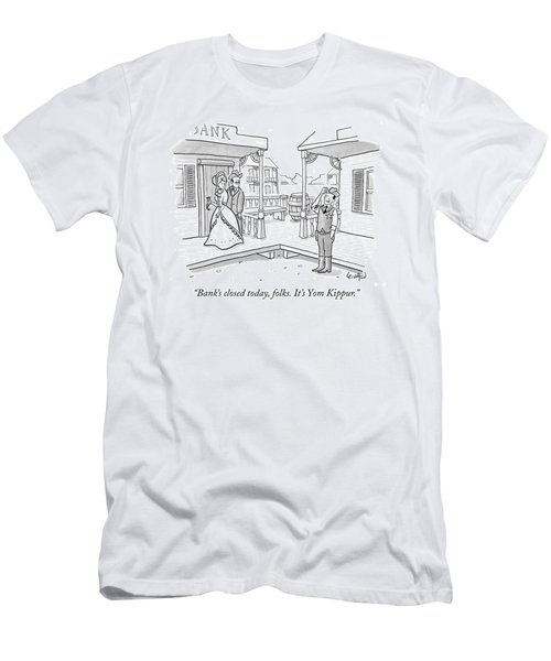 Bank's Closed Today Men's T-Shirt (Athletic Fit)
