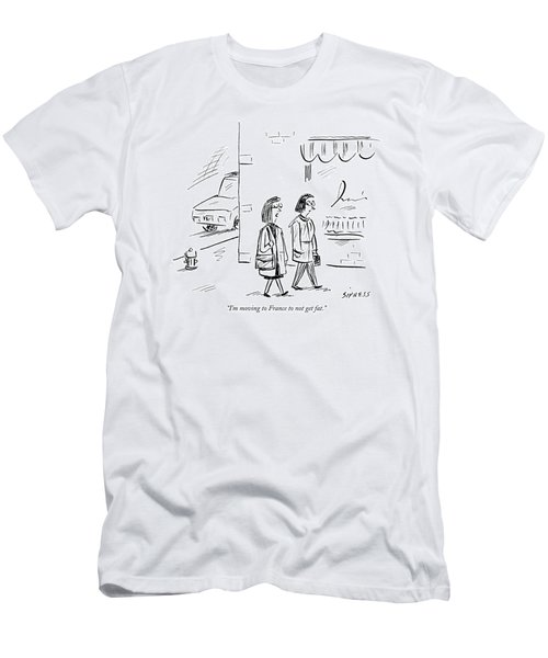I'm Moving To France To Not Get Fat Men's T-Shirt (Athletic Fit)