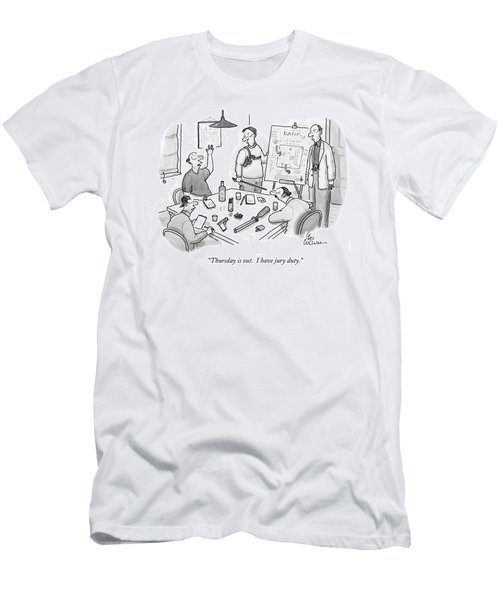 Thursday Is Out.  I Have Jury Duty Men's T-Shirt (Athletic Fit)