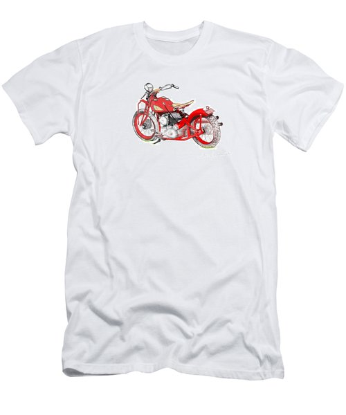 37 Chief Bobber Men's T-Shirt (Slim Fit) by Terry Frederick