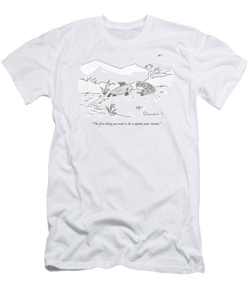 The First Thing You Need To Do Is Update Men's T-Shirt (Athletic Fit)