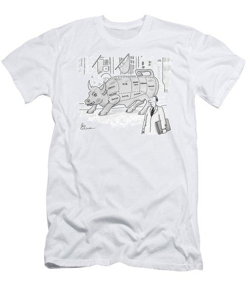 Wallstreet Bull Men's T-Shirt (Athletic Fit)