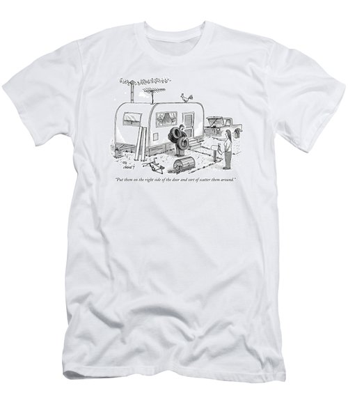 Put Them On The Right Side Of The Door And Sort Men's T-Shirt (Athletic Fit)