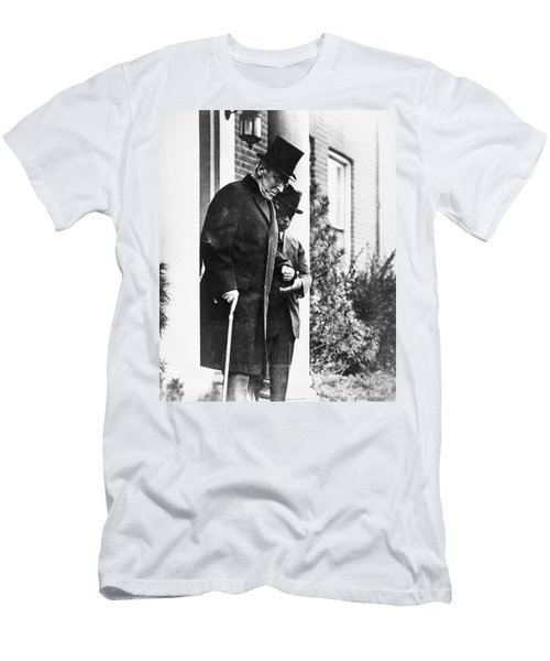 Men's T-Shirt (Slim Fit) featuring the photograph Woodrow Wilson (1856-1924) by Granger