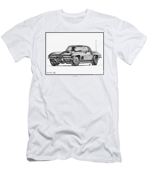 1967 Corvette Men's T-Shirt (Athletic Fit)