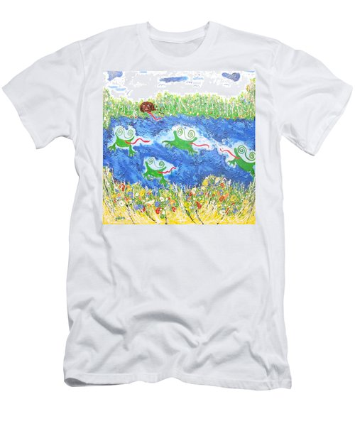 4 Frogs And A Bear Men's T-Shirt (Athletic Fit)