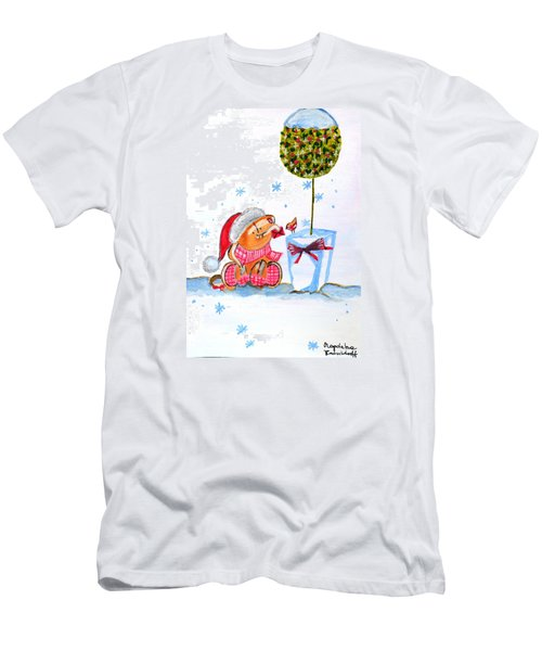 Merry Christmas Men's T-Shirt (Slim Fit) by Magdalena Frohnsdorff