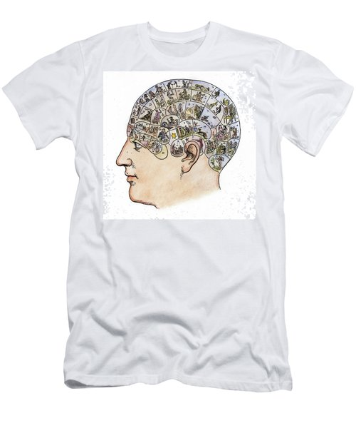 Men's T-Shirt (Slim Fit) featuring the painting Phrenology, 19th Century by Granger