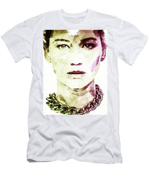 Men's T-Shirt (Slim Fit) featuring the digital art Jennifer Lawrence by Svelby Art