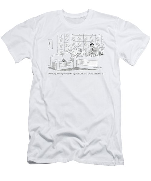 Not Many Lemmings Survive The Experience Men's T-Shirt (Athletic Fit)