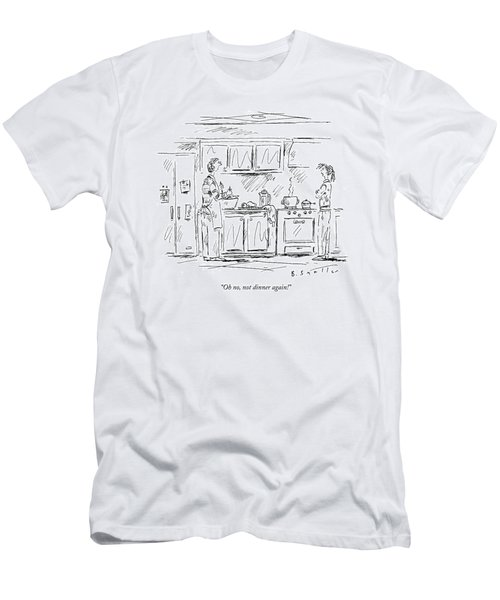 Oh No, Not Dinner Again! Men's T-Shirt (Athletic Fit)