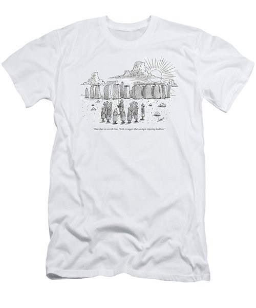 Now That We Can Tell Time Men's T-Shirt (Athletic Fit)