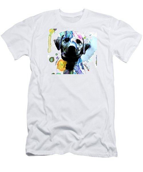 48x44 Labrador Puppy Dog Art- Huge Signed Art Abstract Paintings Modern Www.splashyartist.com Men's T-Shirt (Athletic Fit)
