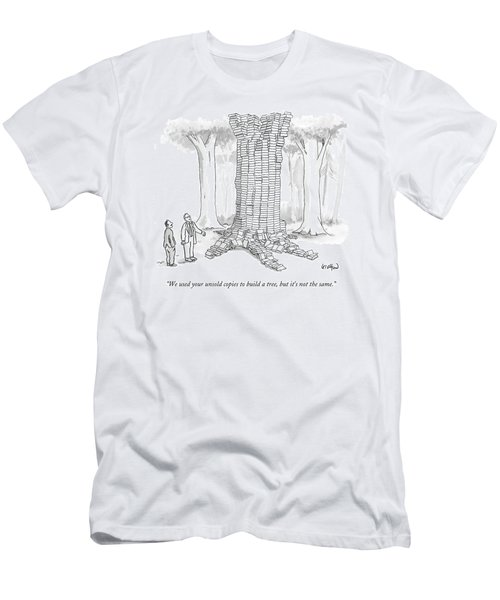 We Used Your Unsold Copies To Build A Tree Men's T-Shirt (Athletic Fit)