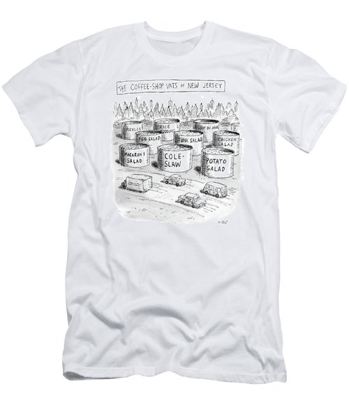 The Coffee Shop Vats Of New Jersey Men's T-Shirt (Athletic Fit)