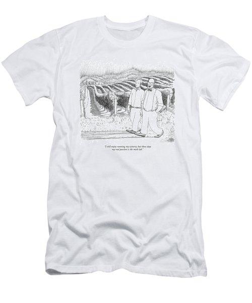 I Still Enjoy Running My Winery Men's T-Shirt (Athletic Fit)