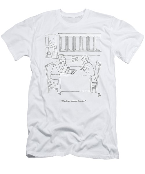 That's Just The Booze Listening. Men's T-Shirt (Athletic Fit)