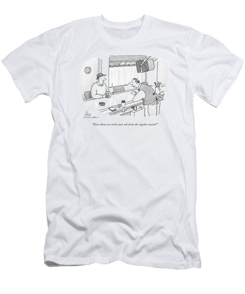 How About We Settle Your Tab From The Regular Men's T-Shirt (Athletic Fit)