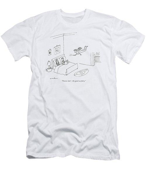 Owen, Look - The Good Sex Fairy Men's T-Shirt (Athletic Fit)