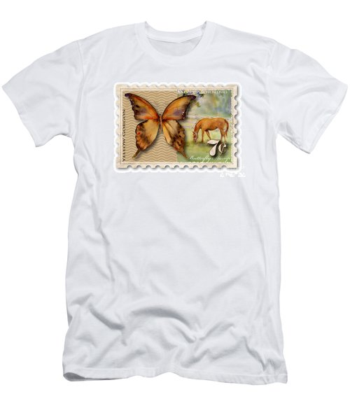 7 Cent Butterfly Stamp Men's T-Shirt (Athletic Fit)