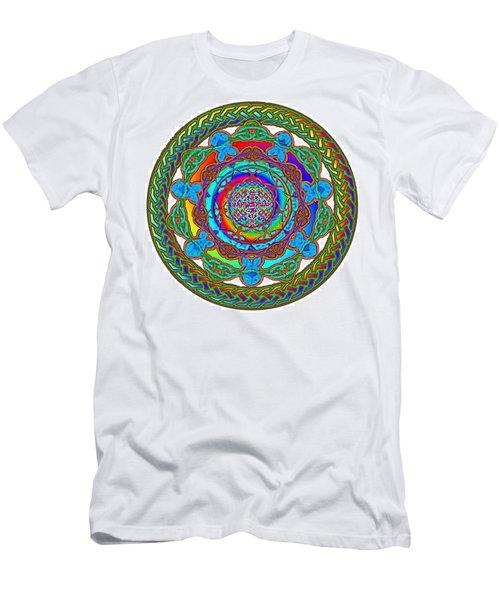 7 Fish Rainbow Yahushuah Messiah Men's T-Shirt (Athletic Fit)