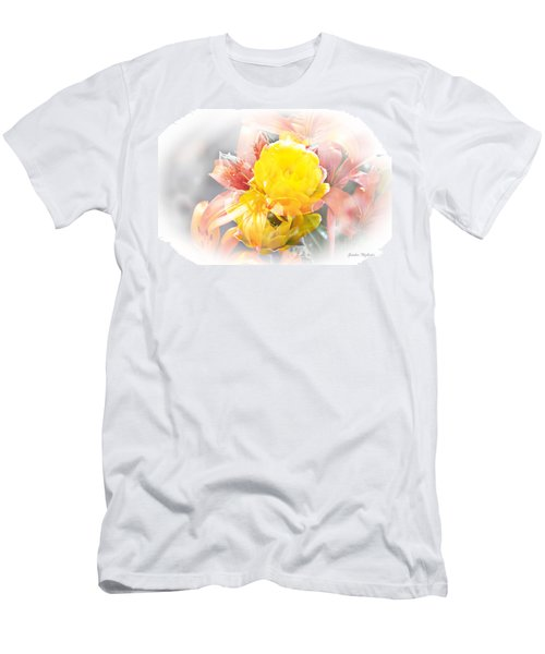 Men's T-Shirt (Athletic Fit) featuring the photograph Flower Burst by Gunter Nezhoda