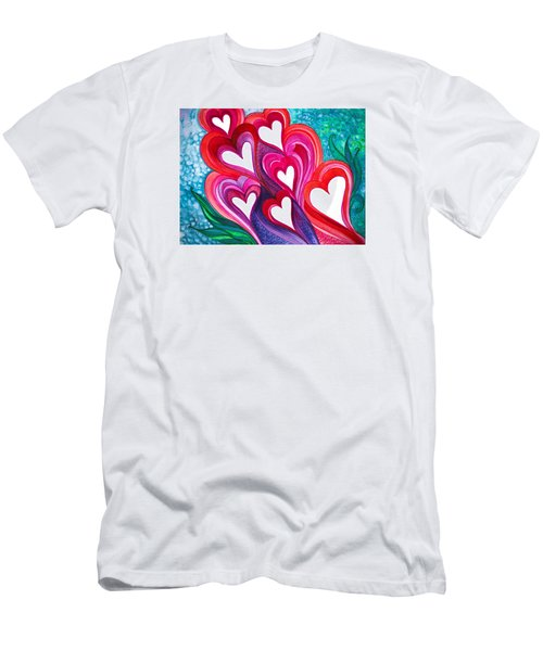 7 Hearts Men's T-Shirt (Slim Fit) by Adria Trail