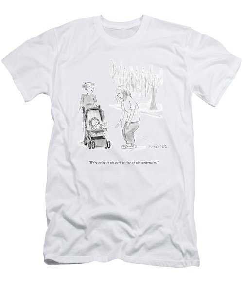 We're Going To The Park To Size Men's T-Shirt (Athletic Fit)