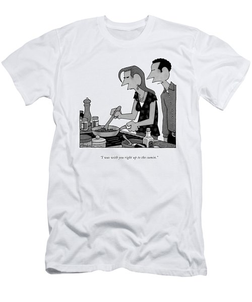 I Was With You Right Up To The Cumin Men's T-Shirt (Athletic Fit)