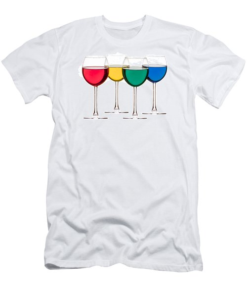 Colorful Drinks Men's T-Shirt (Athletic Fit)