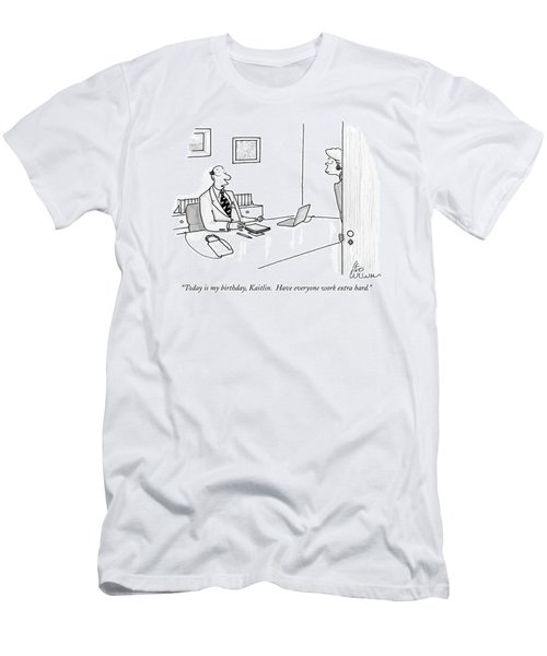 Today Is My Birthday Men's T-Shirt (Athletic Fit)