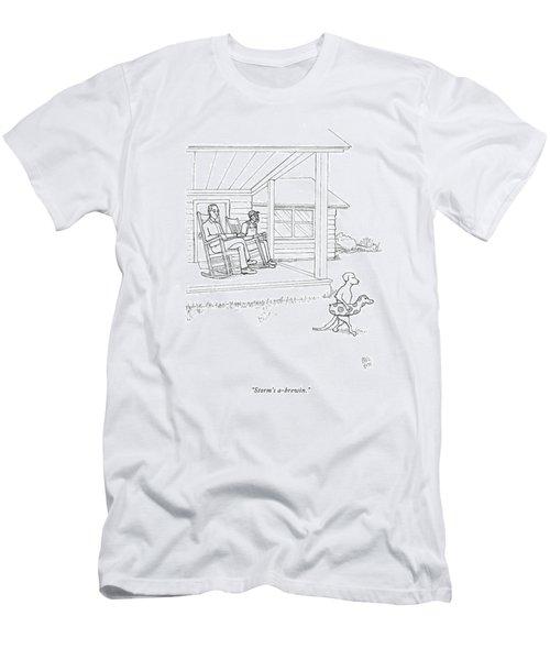 Storm's A-brewin Men's T-Shirt (Athletic Fit)
