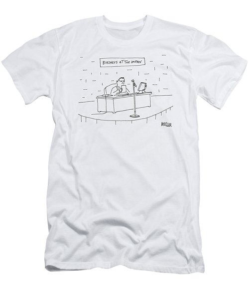 Business At The Improv Men's T-Shirt (Athletic Fit)