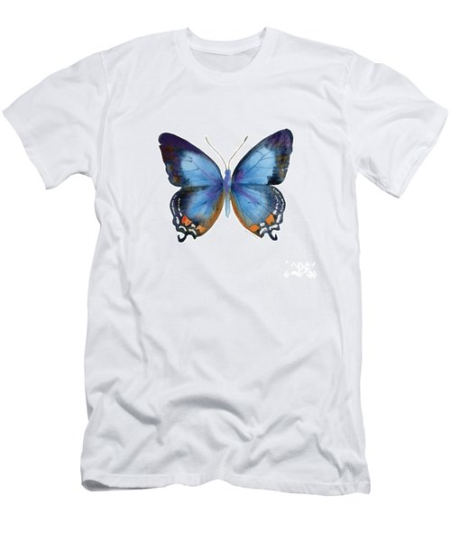 80 Imperial Blue Butterfly Men's T-Shirt (Athletic Fit)