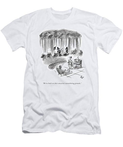We've Built On Their Ancestral Moonshining Men's T-Shirt (Athletic Fit)