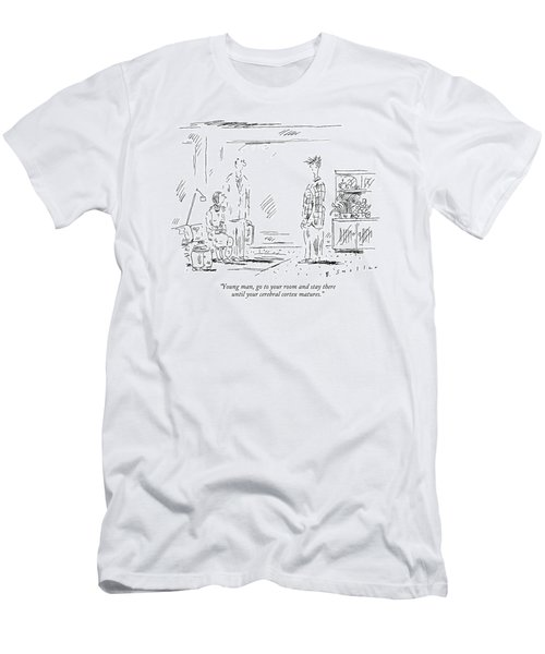 Young Man, Go To Your Room And Stay Men's T-Shirt (Athletic Fit)